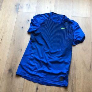 Blue striped Nike dri-fit undershirt sz small
